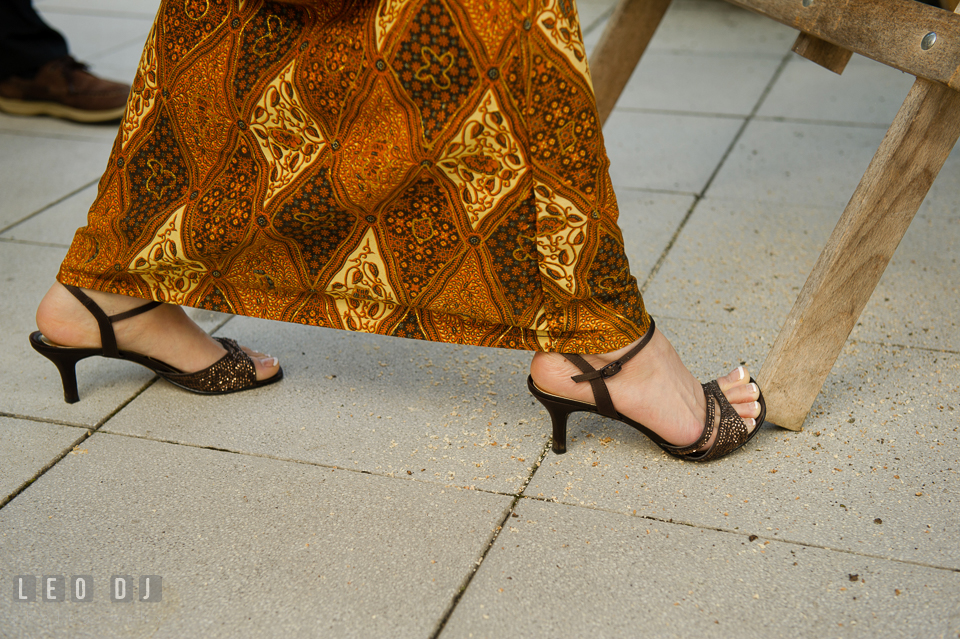 Beautiful Indonesian Batik worn by the Bride as her wedding skirt. Landgrafen Restaurant, Jena, Germany, wedding reception and ceremony photo, by wedding photographers of Leo Dj Photography. http://leodjphoto.com