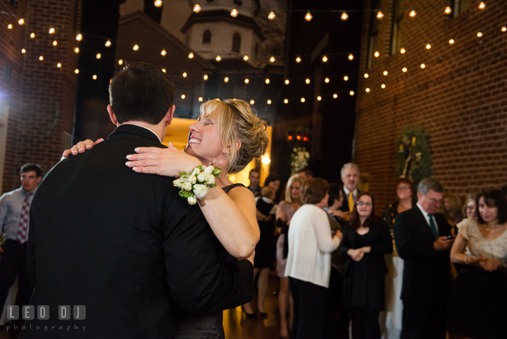 Mother of Groom and Son dance. Historic Inns of Annapolis, Governor Calvert House wedding Maryland, by wedding photographers of Leo Dj Photography. http://leodjphoto.com