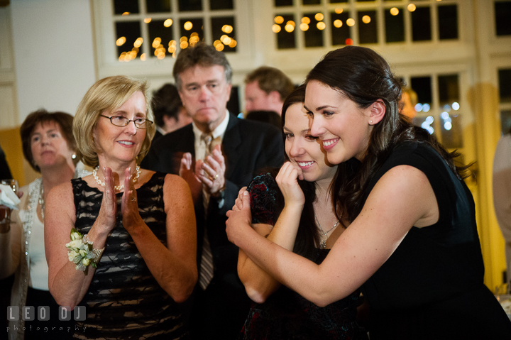 Bride's friend got emotional after listening to the song she composed played. Historic Inns of Annapolis, Governor Calvert House wedding Maryland, by wedding photographers of Leo Dj Photography. http://leodjphoto.com