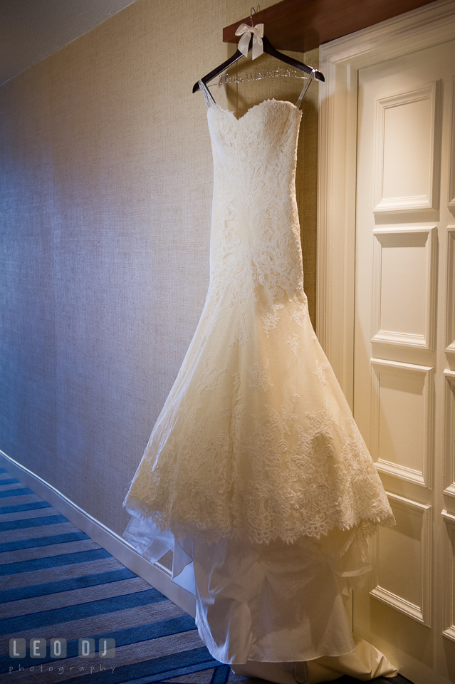 Wedding gown from Love Couture Bridal designed by Matthew Christopher. Loews Annapolis Hotel Maryland wedding, by wedding photographers of Leo Dj Photography. http://leodjphoto.com