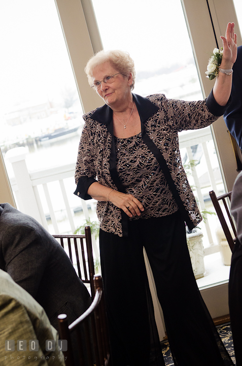 Grandmother dancing to Crank That by Soulja Boy. The Ballroom at The Chesapeake Inn wedding reception photos, Chesapeake City, Maryland by photographers of Leo Dj Photography.