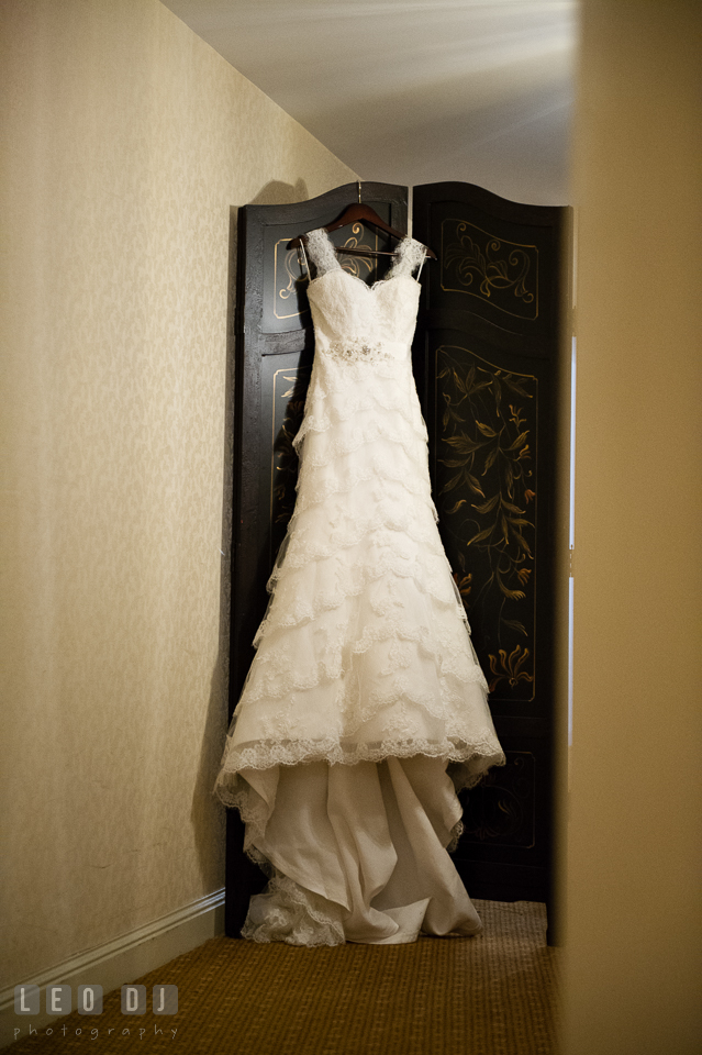 Wedding gown from Belissima Bridal Salon, Michigan. Historic Inns of Annapolis Maryland, Governor Calvert House Greek wedding, by wedding photographers of Leo Dj Photography. http://leodjphoto.com