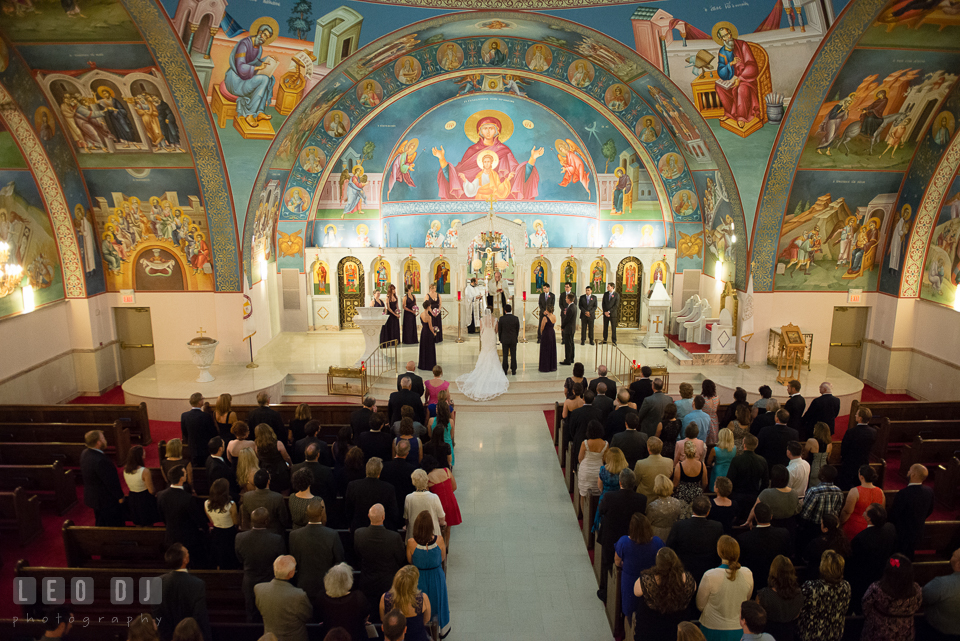 Breathtaking interior of the church. Saints Constantine and Helen Greek Orthodox Church wedding, by wedding photographers of Leo Dj Photography. http://leodjphoto.com