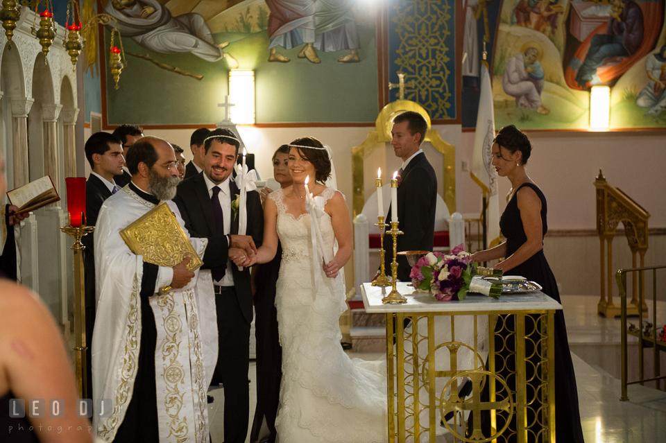 The Ceremonial Walk. Saints Constantine and Helen Greek Orthodox Church wedding, by wedding photographers of Leo Dj Photography. http://leodjphoto.com
