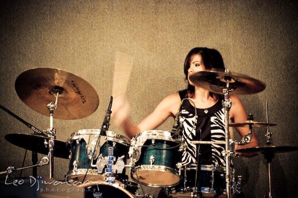 BTV drummer, hitting cymbals. Beyond the Veil music band members concert photography maryland virginia washington dc photographer