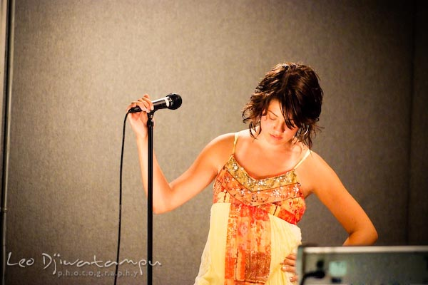 BTV harmony vocalist with microphone. Beyond the Veil music band members concert photography maryland virginia washington dc photographer