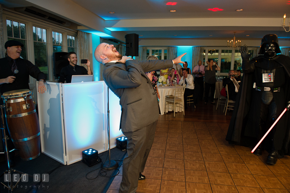 The Oaks Waterfront Inn Darth Vader choking Groom from a distance photo by Leo Dj Photography