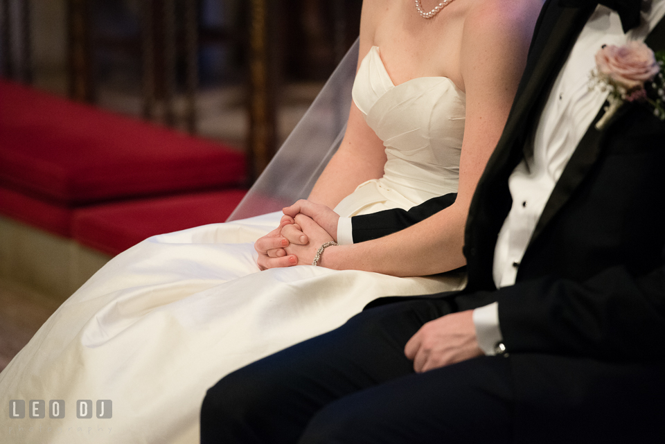 Christ Lutheran Church Inner Harbor Baltimore Maryland Bride Groom holding hands photo by Leo Dj Photography