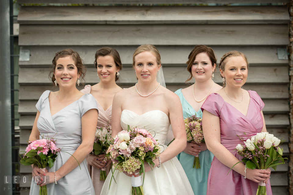 Four Seasons Hotel Baltimore wedding Bride, Maid of Honor, and Bridesmaids photo by Leo Dj Photography