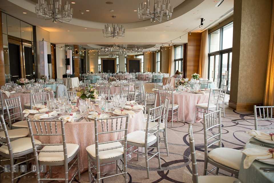Four Seasons Hotel Baltimore Cobalt Ballroom With Lighting By Psav And Linens From Select Event Group