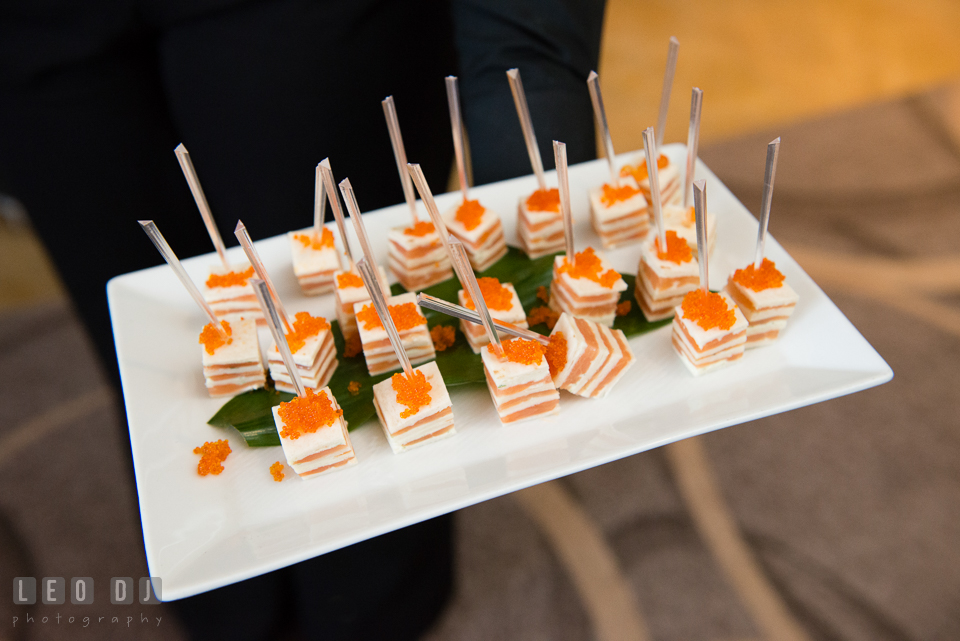 Four Seasons Hotel Baltimore wedding cocktail finger food photo by Leo Dj Photography