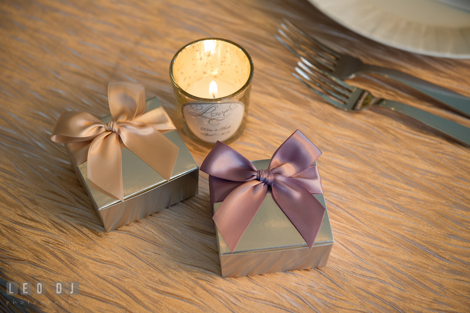 Four Seasons Hotel Baltimore wedding favors by Mouth Party Caramel photo by Leo Dj Photography