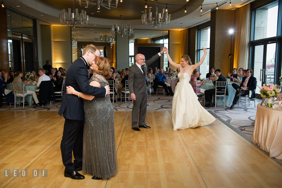 Four Seasons Hotel Baltimore wedding reception Father-daughter and Mother-son parent dance photo by Leo Dj Photography