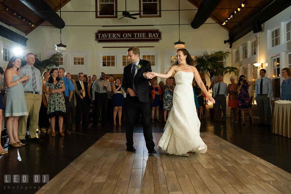 Bride and Groom's first dance. Kent Island Maryland Chesapeake Bay Beach Club wedding photo, by wedding photographers of Leo Dj Photography. http://leodjphoto.com