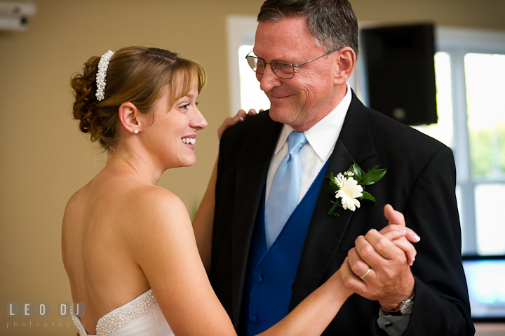 Father of the Bride and daughter dance. Riverhouse Pavilion wedding photos at Easton, Eastern Shore, Maryland by photographers of Leo Dj Photography. http://leodjphoto.com