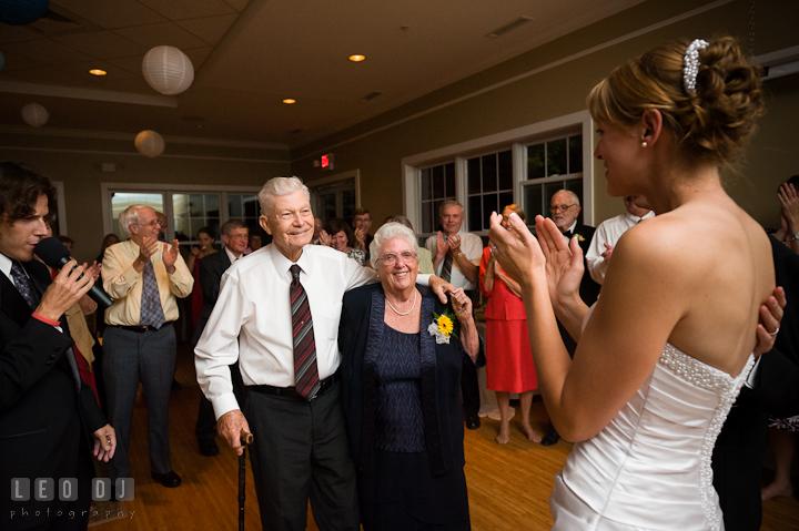 Grandparents, winner of the anniversary dance. Riverhouse Pavilion wedding photos at Easton, Eastern Shore, Maryland by photographers of Leo Dj Photography. http://leodjphoto.com
