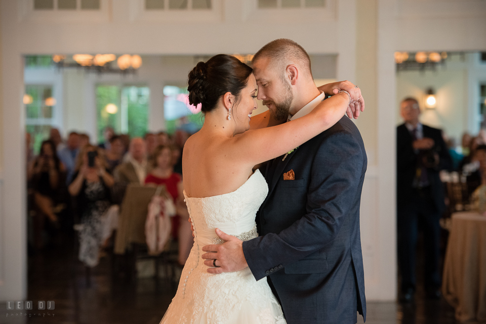 Chesapeake Bay Beach Club Bride and Groom first dance photo by Leo Dj Photography.