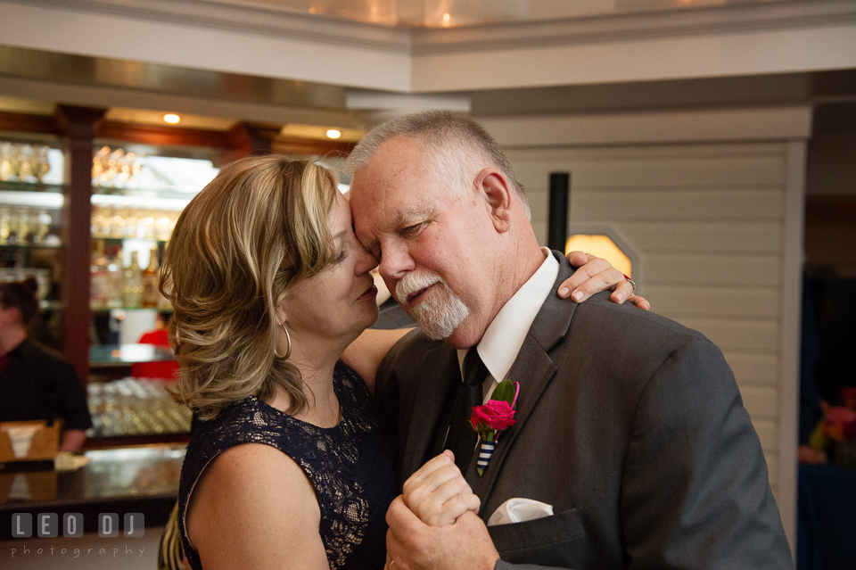 Father and mother of the bride during the anniversary dance. Kent Manor Inn, Kent Island, Eastern Shore Maryland, wedding reception and ceremony photo, by wedding photographers of Leo Dj Photography. http://leodjphoto.com