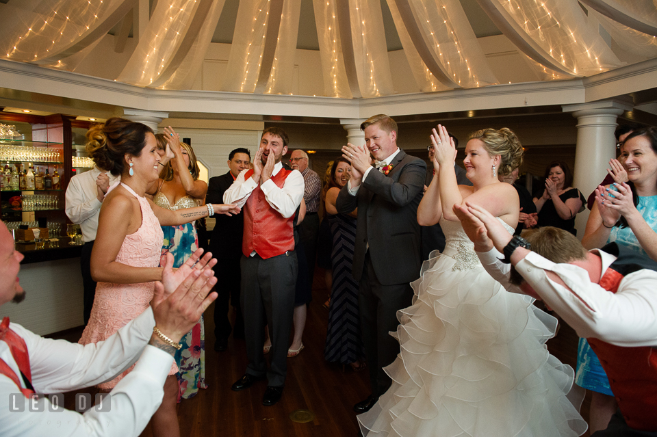 Encore from guests for the stunning entertaining music performance for the Bride and Groom. Kent Manor Inn, Kent Island, Eastern Shore Maryland, wedding reception and ceremony photo, by wedding photographers of Leo Dj Photography. http://leodjphoto.com