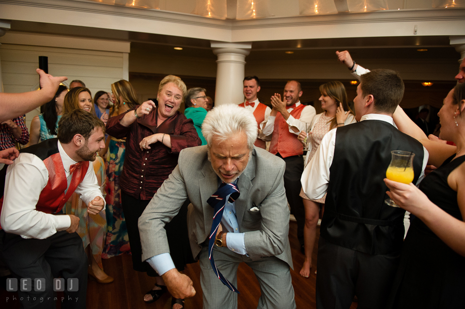 Old and young guests got carried away silly dancing. Kent Manor Inn, Kent Island, Eastern Shore Maryland, wedding reception and ceremony photo, by wedding photographers of Leo Dj Photography. http://leodjphoto.com
