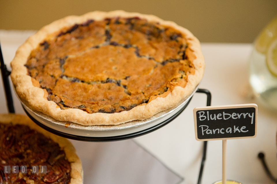 Pies made by Dangerously Delicious Pies, Baltimore. Maryland Yacht Club wedding at Pasadena Maryland, by wedding photographers of Leo Dj Photography. http://leodjphoto.com