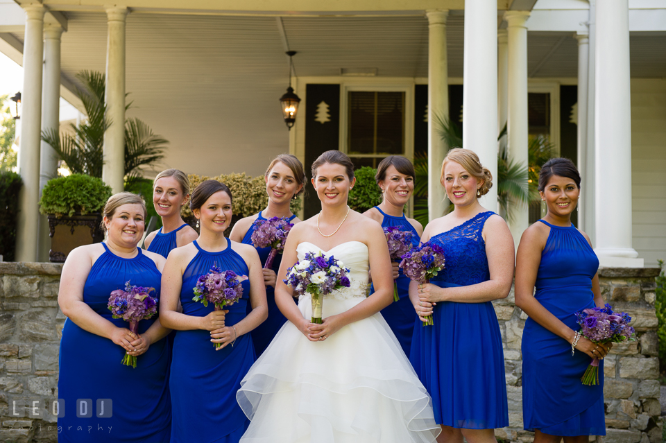 The Mansion at Valley Country Club Bride and Bridesmaids posing photo