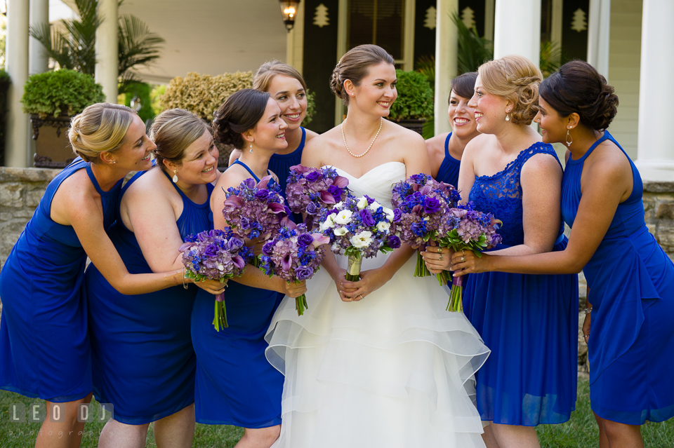 The Mansion at Valley Country Club Bridal party holding flower bouquet from Radebaugh Florist and Greenhouse photo