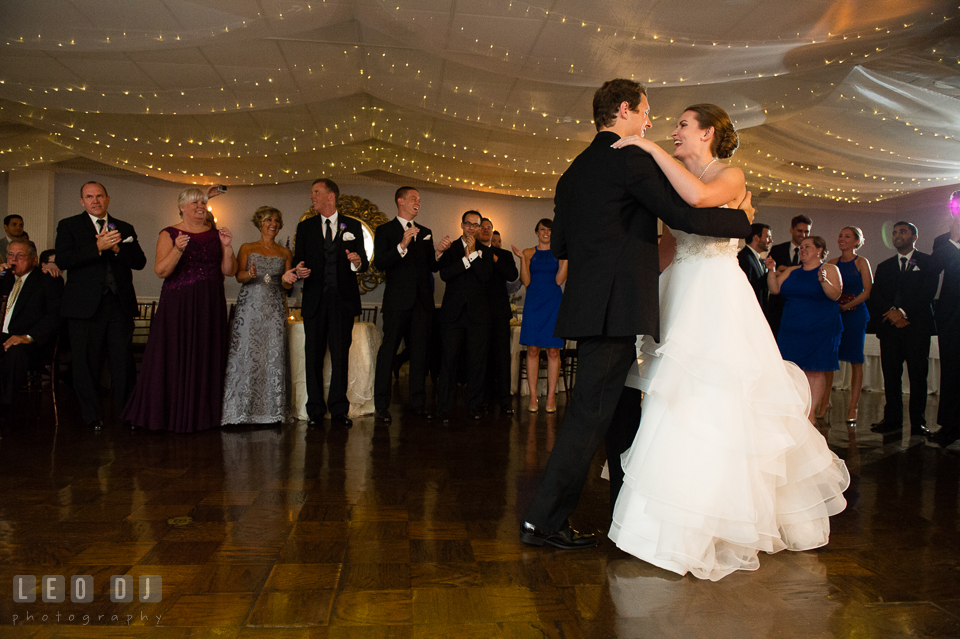 The Mansion at Valley Country Club first dance of newly wed couple photo