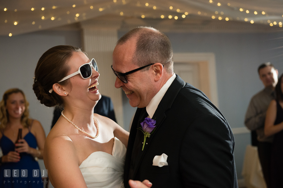 Baltimore Maryland Father of the Bride and Daughter dance laughing photo