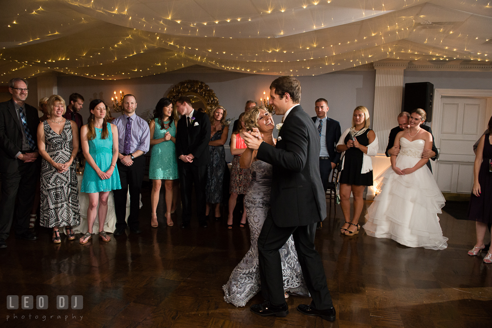 The Mansion at Valley Country Club Mother of the Groom and son dance photo