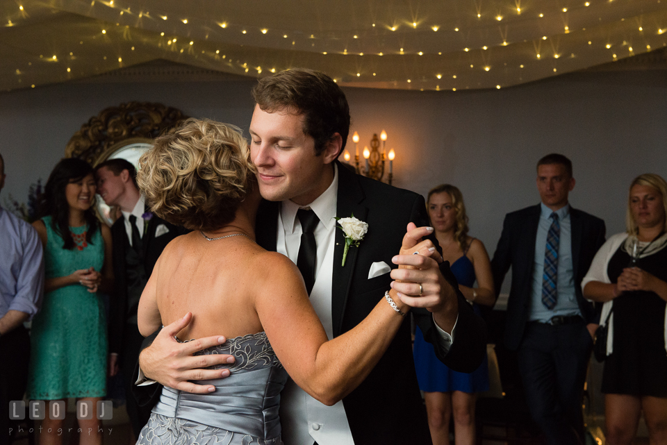 Baltimore Maryland Mother of the Groom and Son dance photo