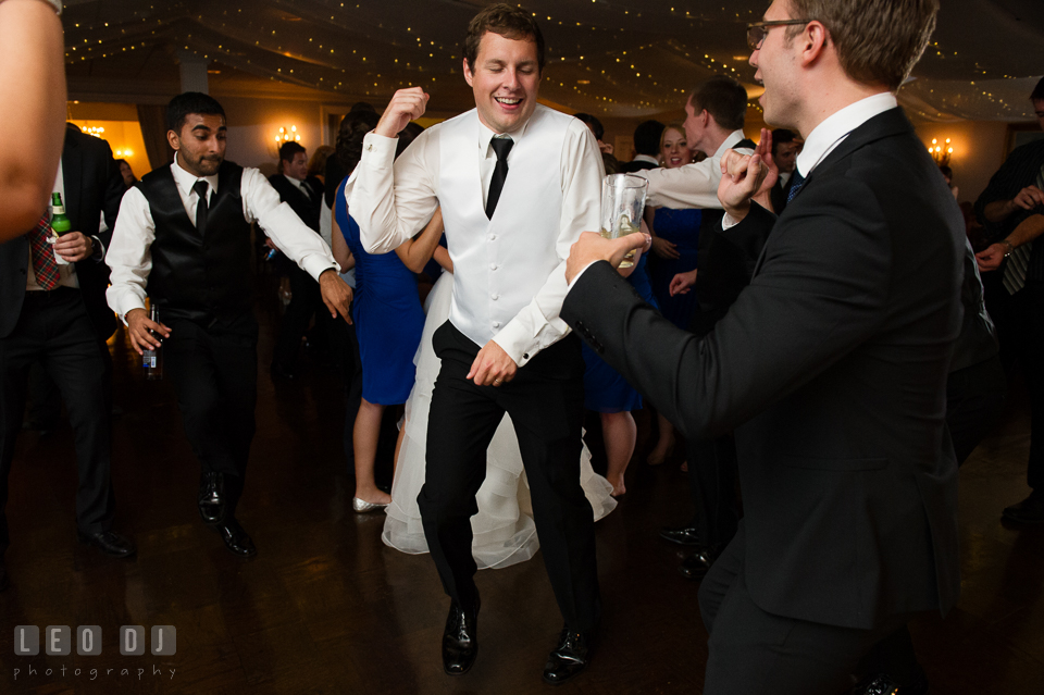 Baltimore Maryland Groom dancing with guests photo