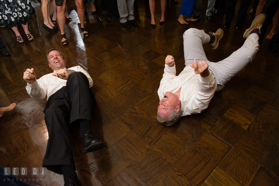 The Mansion at Valley Country Club two guest laying and dancing on the floor photo