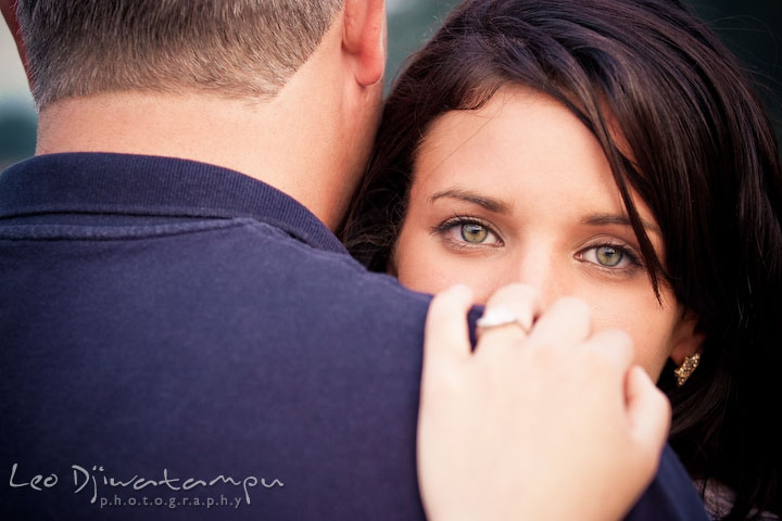 Engaged girl with beautiful gorgeous eyes. Kent Island, Eastern Shore, Maryland Engagement Pre-wedding photography session