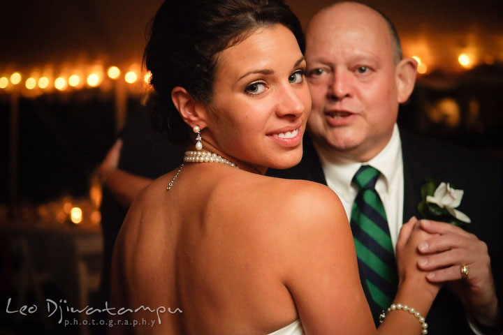 Father and daughter or bride dance. Annapolis Kent Island Maryland Wedding Photography with live dance band at reception