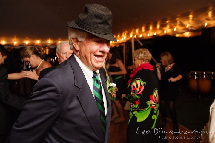 Father of the groom dancing. Annapolis Kent Island Maryland Wedding Photography with live dance band at reception