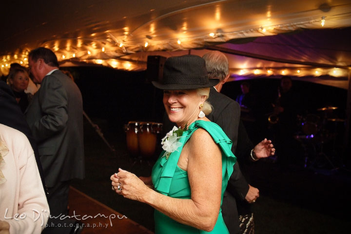 Mother of the groom dancing. Annapolis Kent Island Maryland Wedding Photography with live dance band at reception