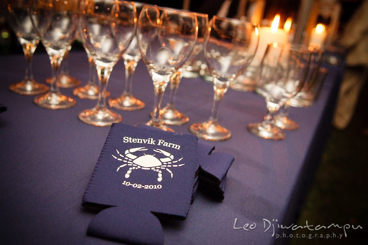 Wine glasses and candles. Annapolis Kent Island Maryland Wedding Photography with live dance band at reception