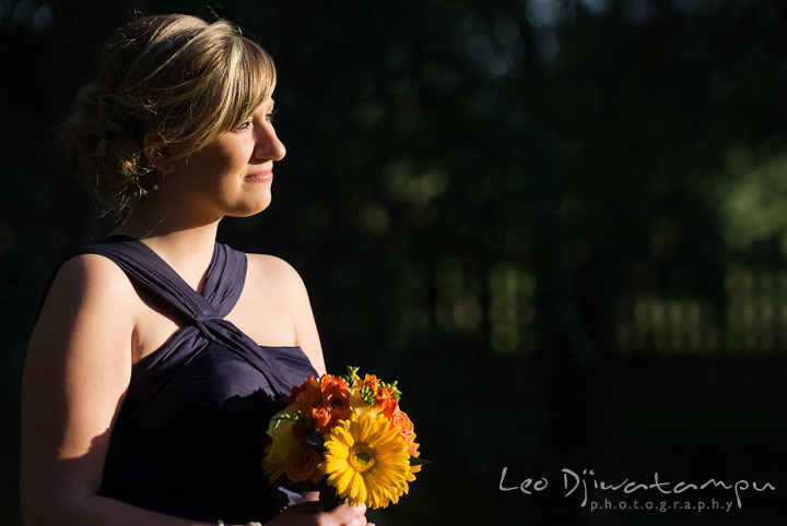 Maid of honor. Mariott Aspen Wye River Conference Center Wedding photos at Queenstown Eastern Shore Maryland, by photographers of Leo Dj Photography.