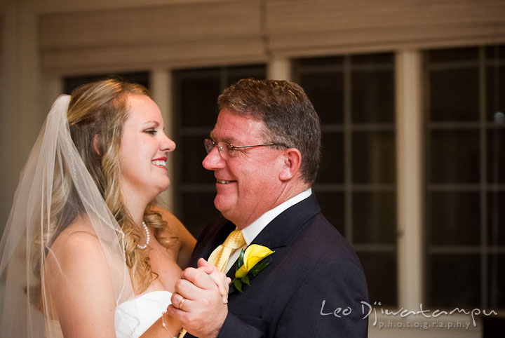 Father of the Bride and daughter dance. Mariott Aspen Wye River Conference Center Wedding photos at Queenstown Eastern Shore Maryland, by photographers of Leo Dj Photography.