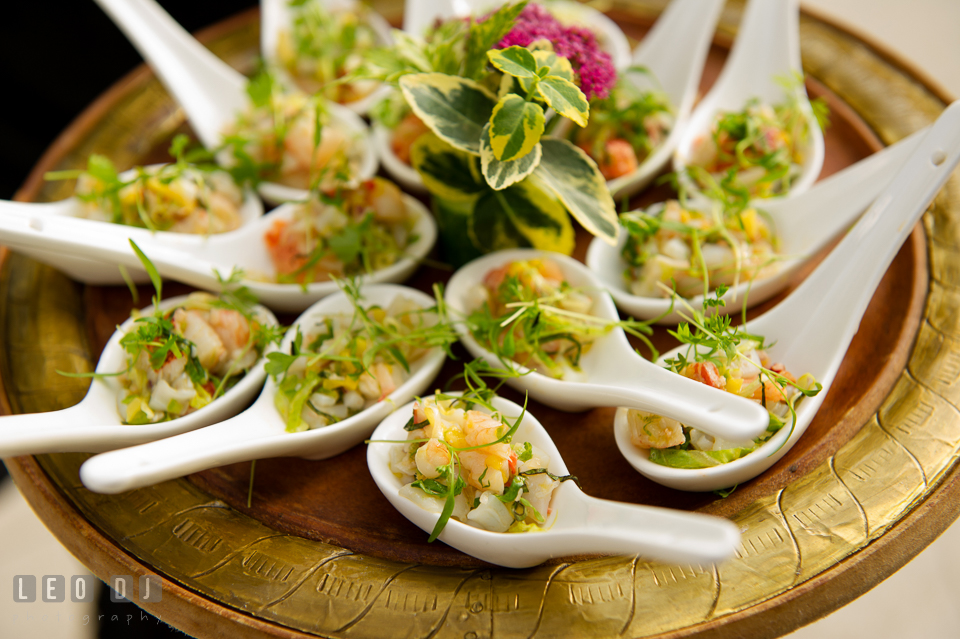 Delicious shrimp cocktail hors d'oeuvres. Falls Church Virginia 2941 Restaurant wedding ceremony and reception photo, by wedding photographers of Leo Dj Photography. http://leodjphoto.com