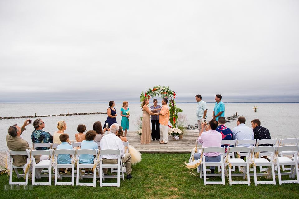Silver Swan Bayside wedding ceremony wide shot photo by Leo Dj Photography