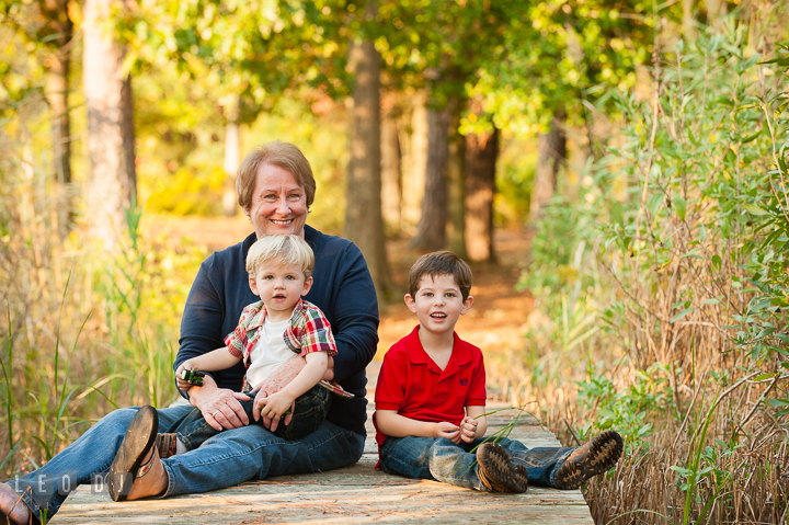 Two toddler boys posing with their Grandmother. Queenstown, Eastern Shore Maryland candid children and family lifestyle portrait photo session by photographers of Leo Dj Photography. http://leodjphoto.com