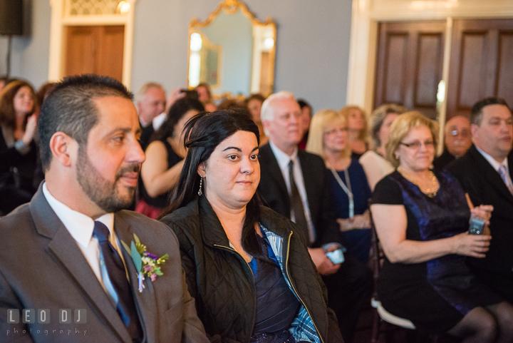 Groom's Mother. The Tidewater Inn Wedding, Easton Maryland, ceremony photo coverage by wedding photographers of Leo Dj Photography. http://leodjphoto.com
