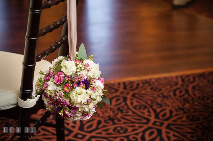 Flower girl floral bouquet. The Tidewater Inn Wedding, Easton Maryland, reception photo coverage by wedding photographers of Leo Dj Photography. http://leodjphoto.com