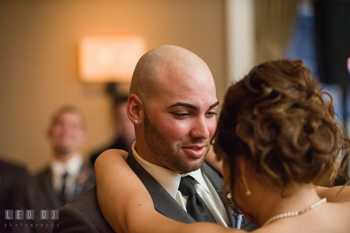First dance of Bride and Groom. The Tidewater Inn Wedding, Easton Maryland, reception photo coverage by wedding photographers of Leo Dj Photography. http://leodjphoto.com