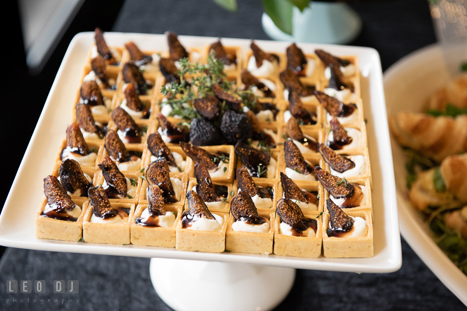 Mouthwatering finger food selections. Historic Events Annapolis bridal shower decor and event coverage at Annapolis Maryland, by wedding photographers of Leo Dj Photography. http://leodjphoto.com