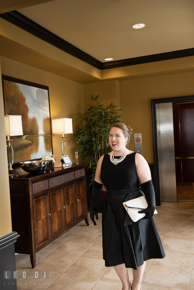 The Bride-to-be making an entrance. Historic Events Annapolis bridal shower decor and event coverage at Annapolis Maryland, by wedding photographers of Leo Dj Photography. http://leodjphoto.com
