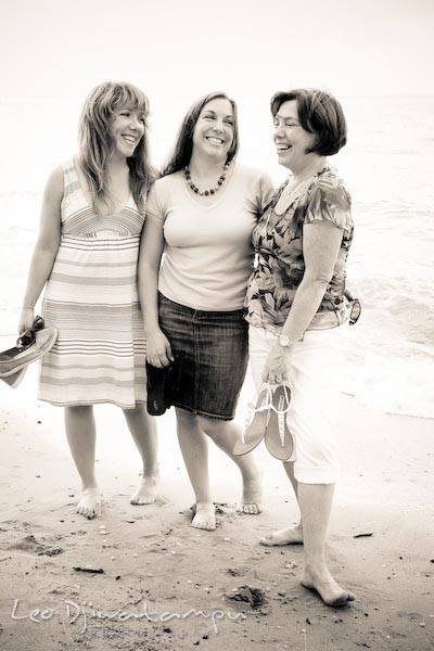 Two daughters and their Mom, mother. Kent Island Annapolis Candid Family Portrait Photo Session Photography Eastern Shore Maryland MD DC