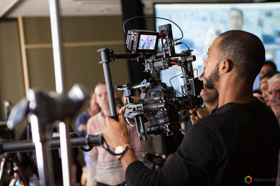 Class attendee operating the Movi camera. Review of MZed Illumination Experience, film making and cinematography Workshop with Hollywood Cinematographer Shane Hurlbut by wedding photographer Leo Dj Photography. http://leodjphoto.com